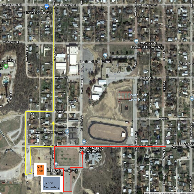 Siebert Elementary Pick-Up Route and Traffic Plan