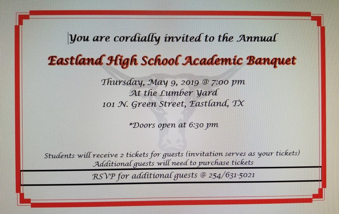 Academic Banquet Invitation